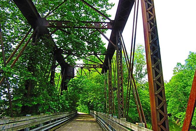 Richland B&O Trail Another bridge Awesome old railroad bridge
