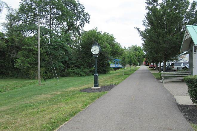 Richland B&O Trail Clock in Bellville And the clock works!