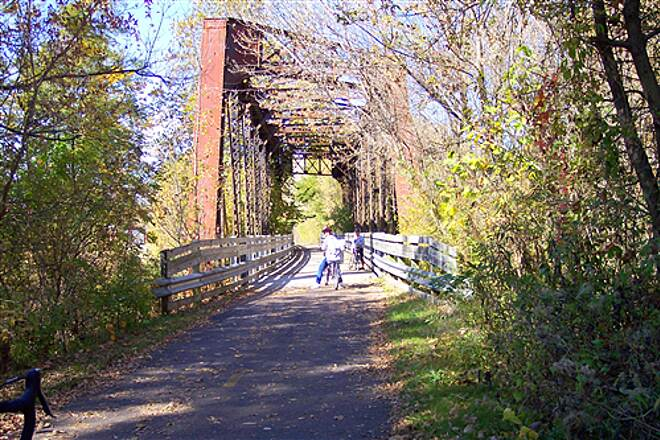 Richland B&O Trail   Bridge South of Bellview