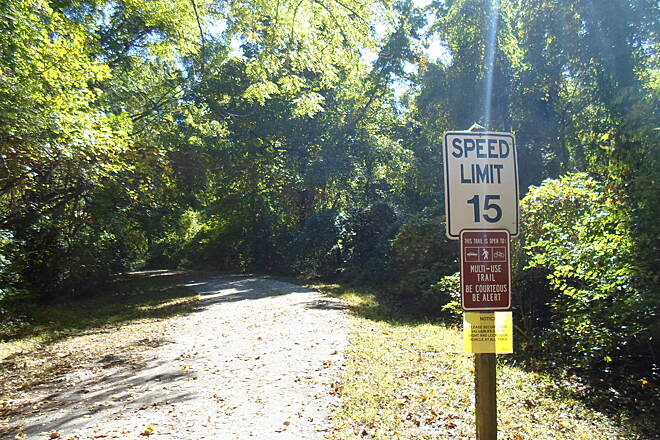 Ridley Creek State Park Trail Ridley Creek Trail Located near the southern side of the park near Painter Road, this is one of 3 major access points to the multi-use trail.