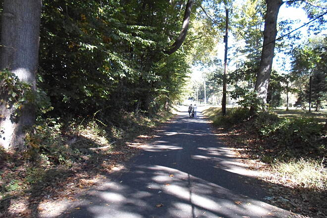 Ridley Creek State Park Trail Ridley Creek State Park Trail Looking east along the Forge Road section of the trail near the park's southern end.