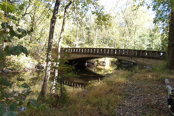 Ridley Creek State Park Trail Ridley Creek State Park Trail This bridge carries Barren Road over Ridley Creek at the east end of the park.