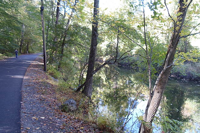 Ridley Creek State Park Trail Ridley Creek State Park Trail Sycamore Mills Road (left) running alongside Ridley Creek.