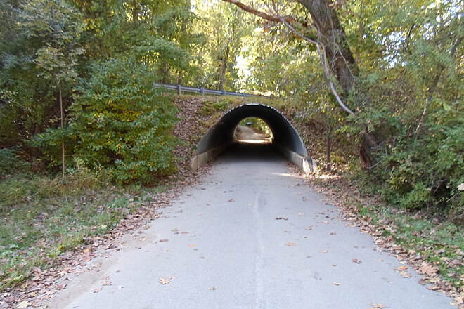 Ridley Creek State Park Trail Ridley Creek State Park Trail The Sycamore Mill Road section of the trail passes beneath Sandy Flash Road via this tunnel.