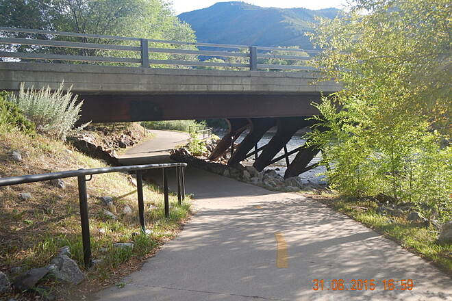 Rio Grande Trail 7th Street Underpass 7th Street underpass along Roaring Fork River 31 Aug 15  Noel Keller