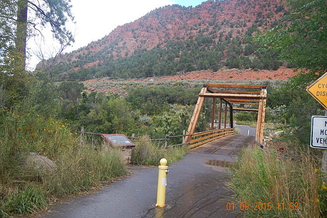 Rio Grande Trail Historic Satank Bridge Rehabilitation started September 2010 on 100 foot span.  1 Sep 2015 Noel Keller