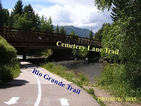 Rio Grande Trail Cemetery Lane Bike Trail Bridge
