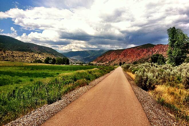 Rio Grande Trail Northbound near Carbondale, CO Love those omnipresent red cliffs