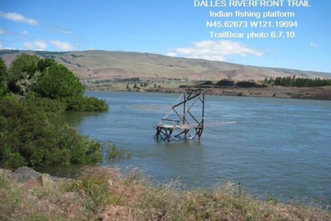 Riverfront Trail at The Dalles THE DALLES RIVERFRONT TRAIL A fishing platform.