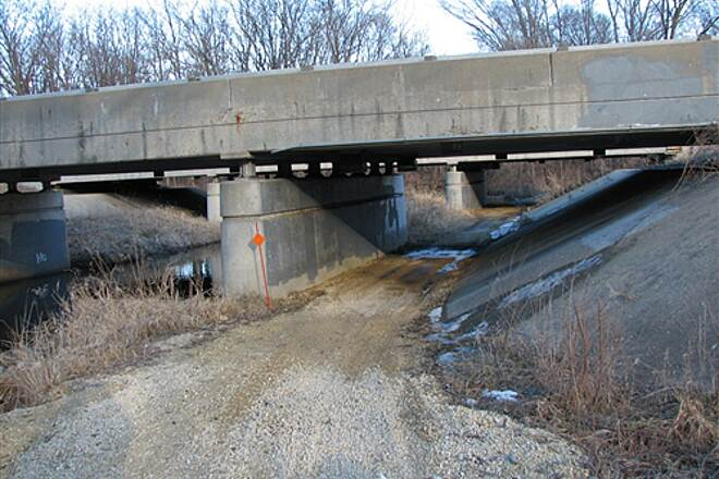 Riverside Recreational Path  Trail goes under route 251 at this underpass