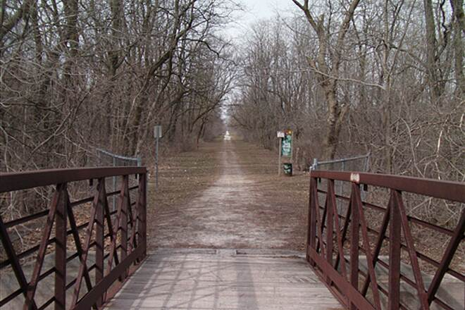 Robert McClory Bike Path Russel Road (end of trail) facing North After this point the trail is called the Kenosha County Bike trail