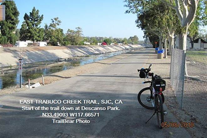 Robert McCollum Memorial Bicycle Trail TRABUCO CREEK - EAST BANK TRAIL, SJC, CA. Blacktop this side, horse trail other side.