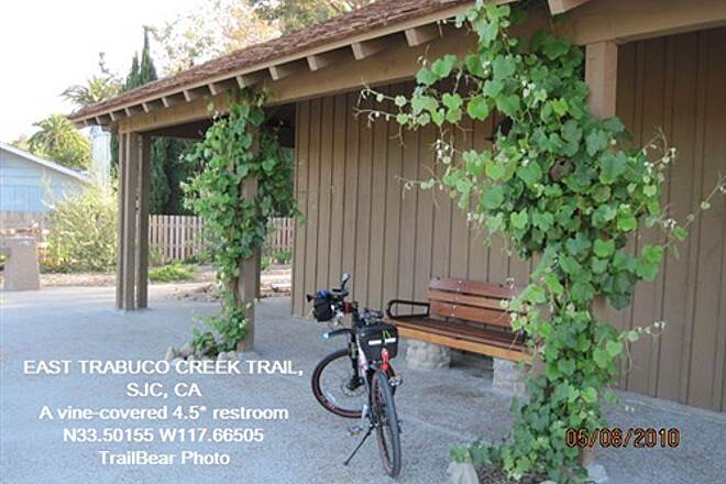 Robert McCollum Memorial Bicycle Trail TRABUCO CREEK - EAST BANK TRAIL, SJC, CA. A 4.5* restroom. (Tile would have gotten them a 5.)