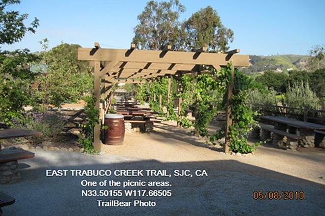 Robert McCollum Memorial Bicycle Trail TRABUCO CREEK - EAST BANK TRAIL, SJC, CA. Delightful area for a party.