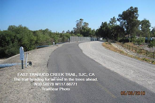 Robert McCollum Memorial Bicycle Trail TRABUCO CREEK - EAST BANK TRAIL, SJC, CA. The end is neigh.