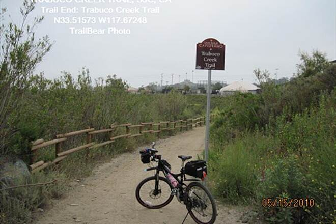 Robert McCollum Memorial Bicycle Trail TRABUCO CREEK TRAIL From here it's the Trabuco Creek Trail