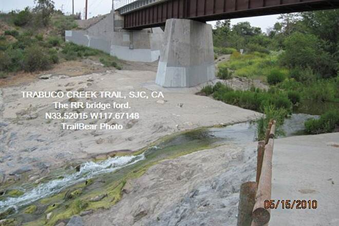 Robert McCollum Memorial Bicycle Trail TRABUCO CREEK TRAIL Here is the ford.