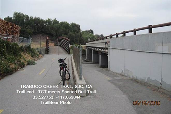 Robert McCollum Memorial Bicycle Trail TRABUCO CREEK TRAIL Upper end of the trail.