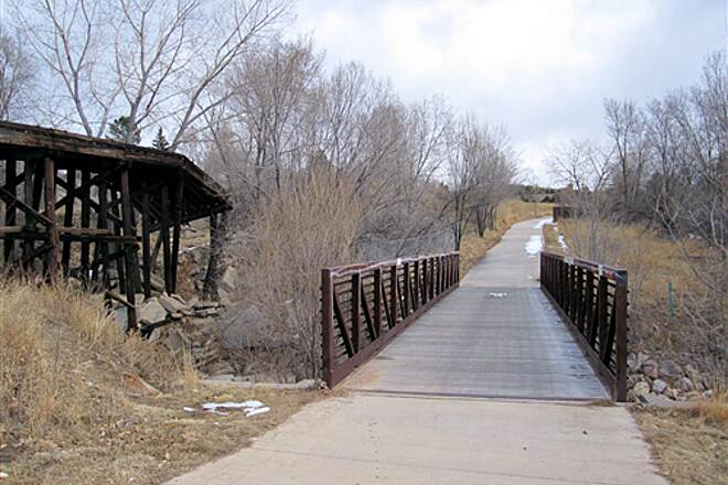 Rock Island Trail (CO) Abandoned Trestle Bridge and Trail Bridge Heading Eastward Towards Murray Blvd Abandoned Trestle Bridge and Trail Bridge Heading Eastward Towards Murray Blvd