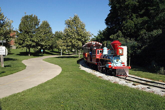 Rock Island Trail (NE) Rock Island Trail This is the ONLY train you will see on the Rock Island trail these days.  It's the train that runs at the Childrens Zoo.  Which the trail runs right by.