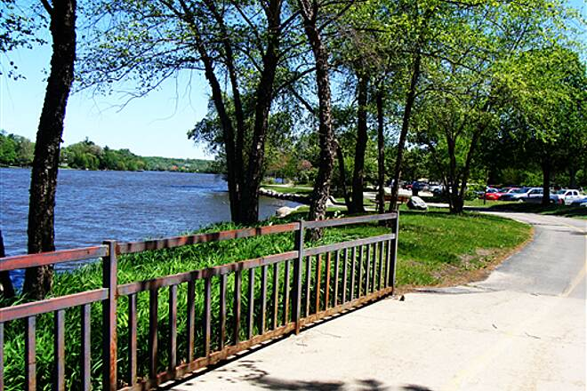 Rock River Recreation Path Rock River - near the YMCA May 2010