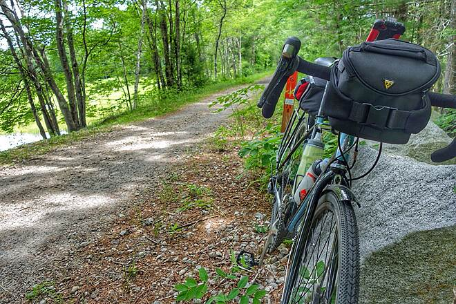 Rockingham Recreational Rail Trail (Portsmouth Branch) about ten miles into the trail