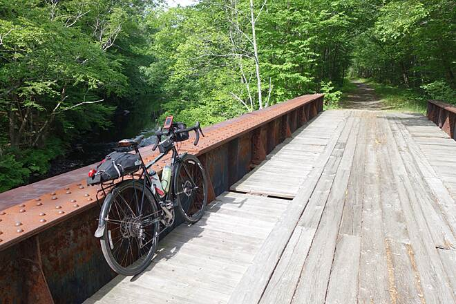 Rockingham Recreational Rail Trail (Portsmouth Branch) one of the bridges
