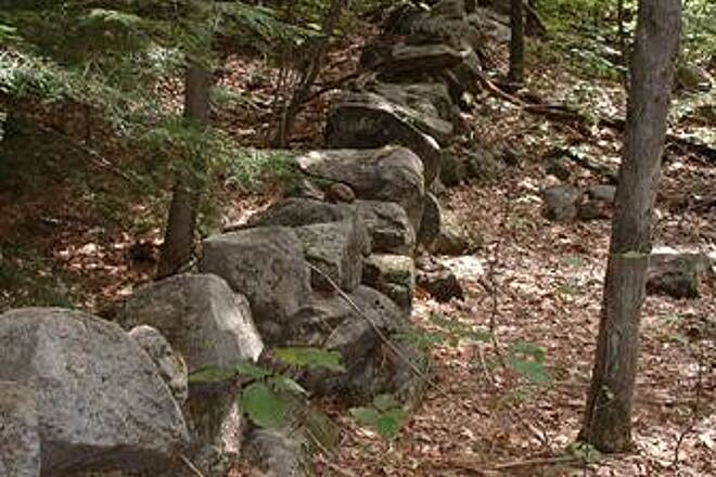 Rockingham Recreational Rail Trail (Portsmouth Branch) Rock Wall