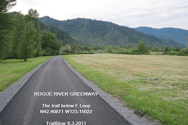 Rogue River Greenway ROGUE RIVER GREENWAY Below F Loop in the campground