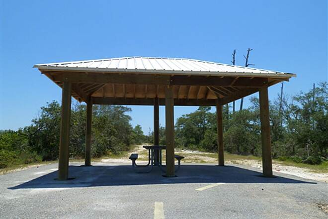 Rosemary Dunes Trail Pavilion near the south trailhead