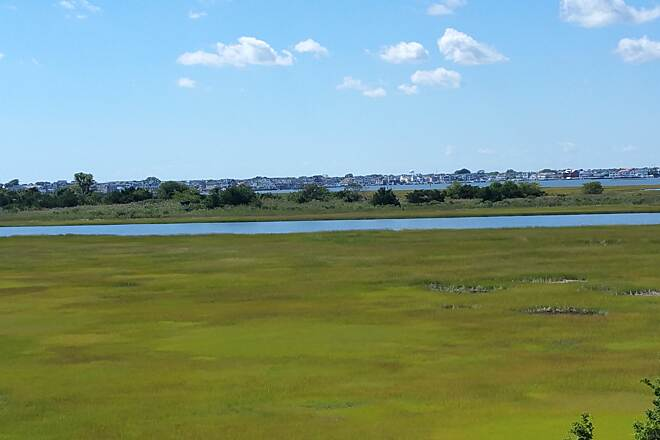 Route 52 Bridge Trail The Wetlands A great view of the wetlands with Ocean City in the backround. Picture was taken from the Welcome Center.