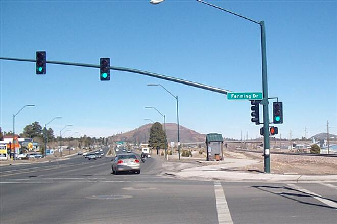 Route 66 Trail Route 66 Trail One of several street crossings with lights