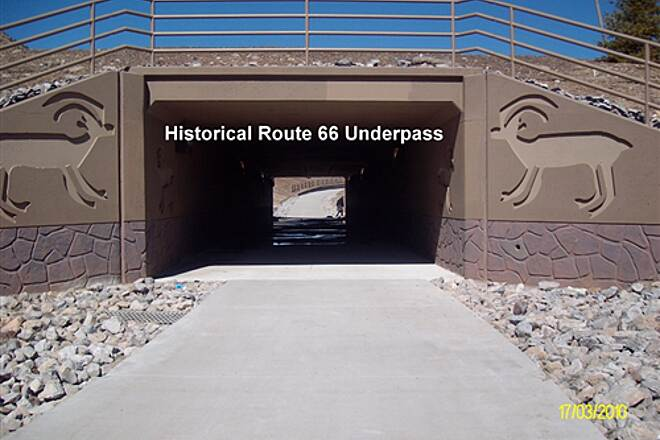 Route 66 Trail Route 66 Trail Trail passes under Historical Route 66