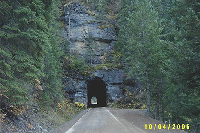 Route of the Hiawatha   Another tunnel