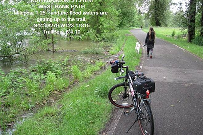 Ruth Bascom Riverbank Trail System THE RUTH BASCOM SYSTEM - WEST BANK PATH Lots of rain and the river is rising.
