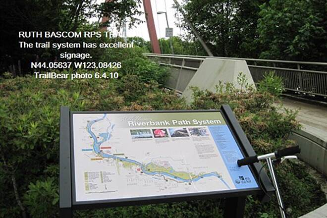 Ruth Bascom Riverbank Trail System RBRPS: SOUTH BANK PATH These trail have excellent signage the entire length.