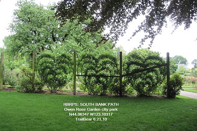 Ruth Bascom Riverbank Trail System RBRPS: SOUTH BANK PATH Owen Rose Garden - one of the SBP parks