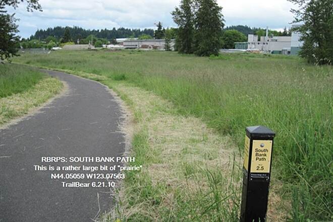 Ruth Bascom Riverbank Trail System RBRPS: SOUTH BANK PATH This prairie is by the Mill Race