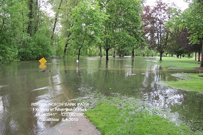 Ruth Bascom Riverbank Trail System RBRPS: EAST BANK & NORTH BANK PATHS Flooding in the park.