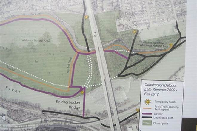 Ruth Bascom Riverbank Trail System RBRPS: EAST BANK & NORTH BANK PATHS Construction detours ahead