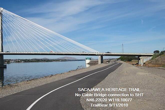 Sacagawea Heritage Trail SACAGAWEA HERITAGE TRAIL It took some route finding from the bridge to here.