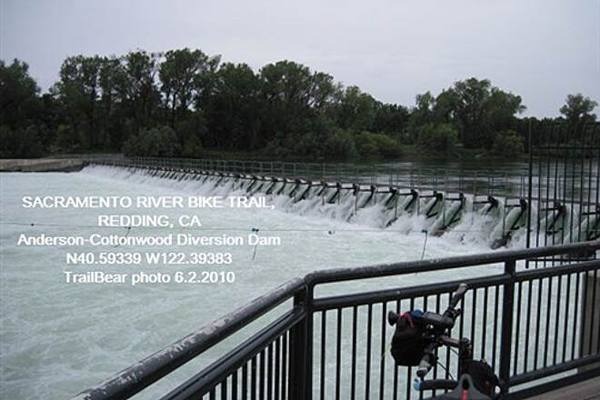 Sacramento River Trail SACRAMENTO RIVER TRAIL, REDDING, CA    Water high at the dam.
