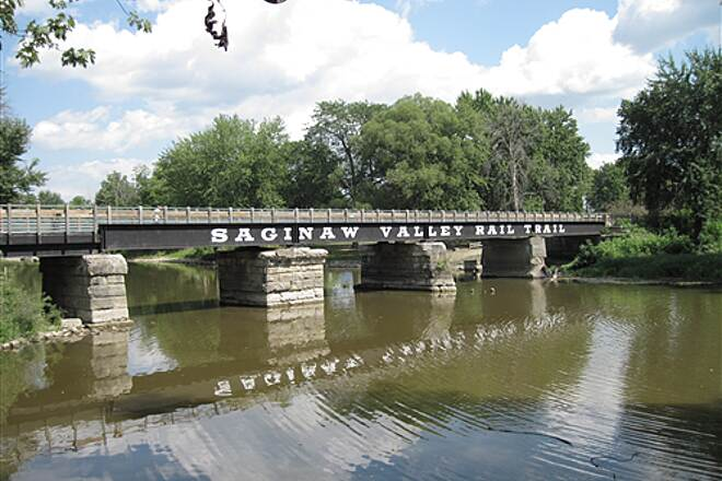 Saginaw Valley Rail Trail  Lumberjack Park Bridge