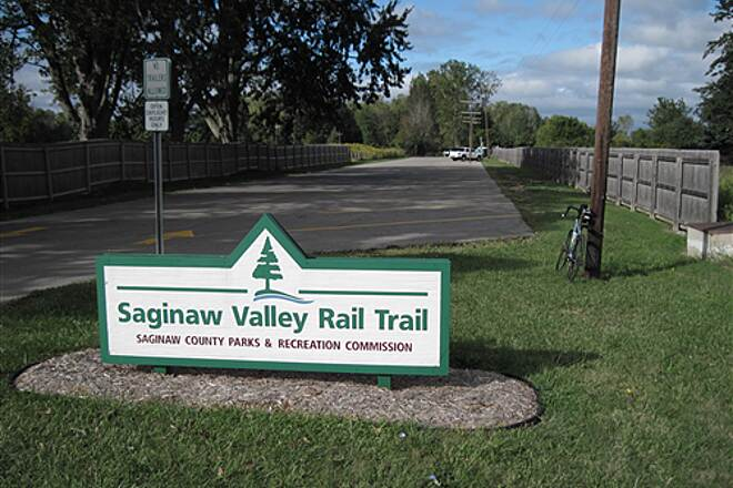 Saginaw Valley Rail Trail  Stroebel Rd. trail head parking lot