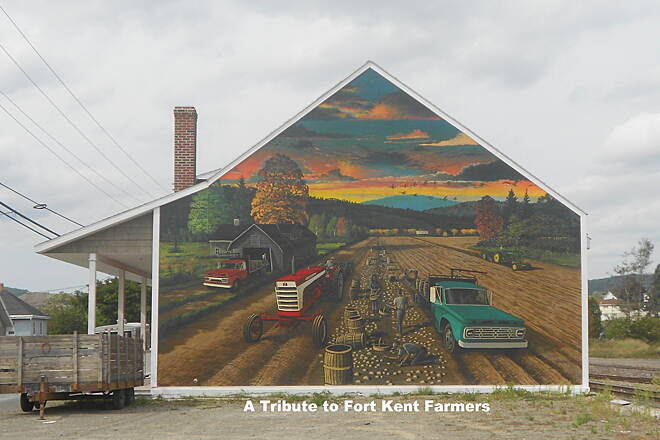 Saint John Valley Heritage Trail St John Valley Heritage Trail Mural Tribute to Fort Kent Farmers.