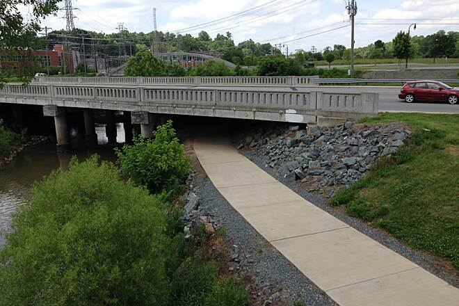Salem Creek Greenway Bridge at S. Main st.
