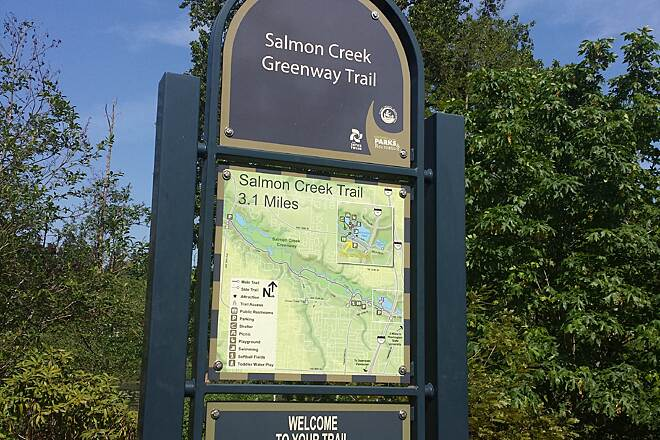 Salmon Creek Greenway Trail Eastern Trailhead