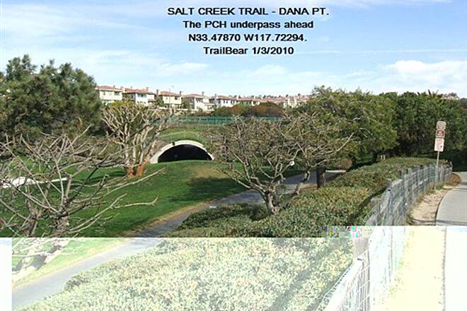 Salt Creek Trail (CA) SALT CREEK TRAIL PCH underpass - with tram service.