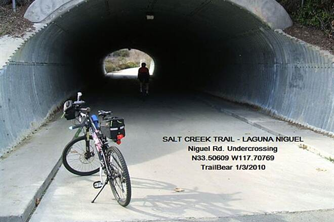 Salt Creek Trail (CA) SALT CREEK TRAIL Niguel Rd. underpass - where two arms of the trail meet.