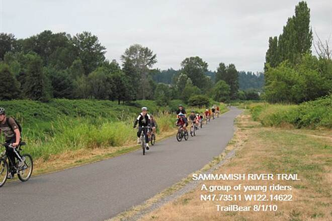 Sammamish River Trail SAMMAMISH RIVER TRAIL Young riders